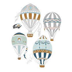 Sada 4 nástěnných samolepek Dekornik Ballons