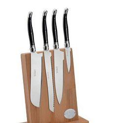 Sada 4 nožů z nerezové oceli na magnetickém bloku Jean Dubost