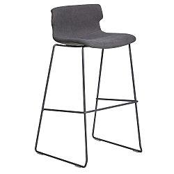Sada 4 šedých barových židlí Marckeric Cala