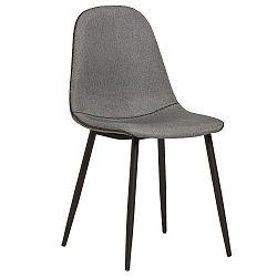 Sada 4 šedých jídelních židlí s černým prošíváním Marckeric Tempo