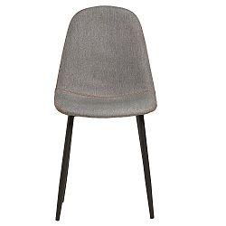 Sada 4 šedých jídelních židlí s červeným prošíváním Marckeric Tempo