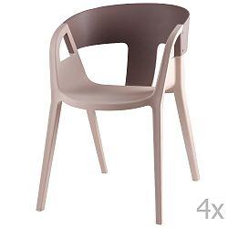 Sada 4 šedých  jídelních židlí sømcasa Willa