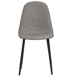 Sada 4 šedých jídelních židlí se zeleným prošíváním Marckeric Tempo