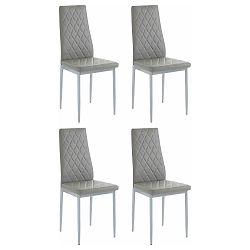 Sada 4 šedých židlí Støraa Barak