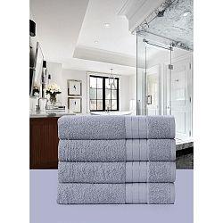 Sada 4 světle šedých bavlněných ručníků HIP, 50 x 100 cm