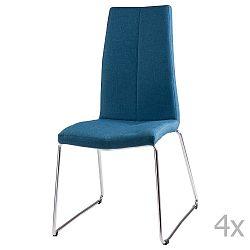 Sada 4 tmavě modrých  jídelních židlí sømcasa Aora