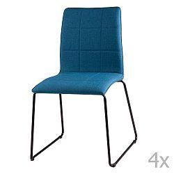 Sada 4 tmavě modrých jídelních židlí sømcasa Malina