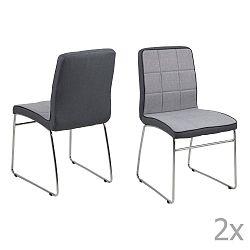 Sada 4 tmavě šedých jídelních židlí Actona Justin