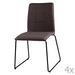 Sada 4 tmavě šedých jídelních židlí sømcasa Malina