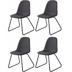 Sada 4 tmavě šedých jídelních židlí Støraa Colombo