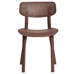 Sada 4 vínových jídelních židlí Marckeric Eleni