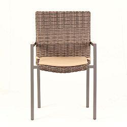 Sada 4 zahradních židlí s podsedákem Ezeis Zephyr