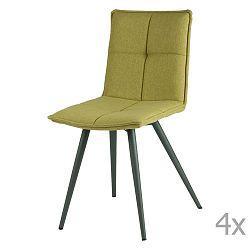 Sada 4 zelených jídelních židlí sømcasa Zoe