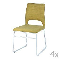 Sada 4 žlutých jídelních židlí sømcasa Nessa