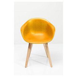 Sada 4 žlutých židlí Kare Design Forum