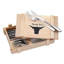 Sada 6 steakových příborů v dřevěné krabičce WMF Cromargan®