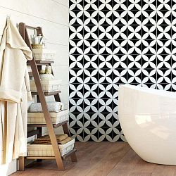 Sada 60 nástěnných samolepek Ambiance Wall Decal Cement Tiles Aniello, 20 x 20 cm