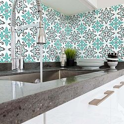 Sada 60 nástěnných samolepek Ambiance Wall Decal Cement Tiles Paco, 20 x 20 cm