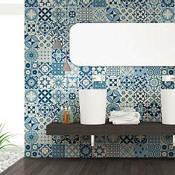 Sada 60 nástěnných samolepek Ambiance Wall Decal Cement Tiles Riana, 20 x 20 cm
