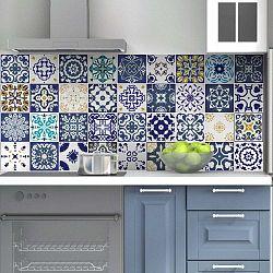 Sada 60 nástěnných samolepek Ambiance Wall Decal Tiles Azulejos Cyprus, 15 x 15 cm