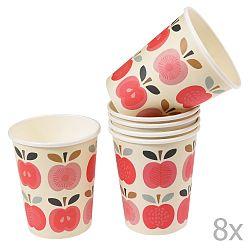 Sada 8 papírových kelímků Rex London Vintage Apple, 250ml