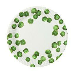 Sada 8 papírových talířů Talking Tables Sprout
