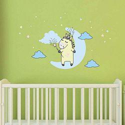 Sada nástěnných dětských samolepek Ambiance Unicorn in The Sky