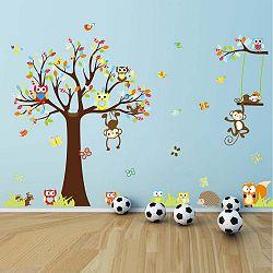 Sada samolepek Fanastick Cute Monkeys Playing On Trees