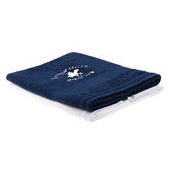 Sada tmavě modrého a bílého ručníku Beverly Hills Polo Club Tommy Orj, 50x100cm
