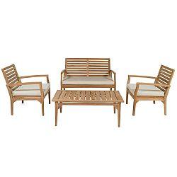 Sada zahradního nábytku z teakového dřeva Santiago Pons Ivory