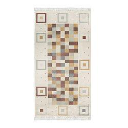 Sametový koberec Deri Dijital Brown Pradna, 80x300cm