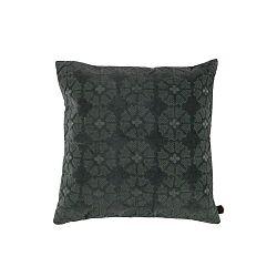 Sametový šedý polštář De Eekhoorn Gossip, 50x50cm