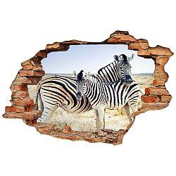 Samolepka Ambiance Landscape Zebra Mother, 60 x 90 cm