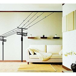 Samolepka Birds on electric pole, 140 cm