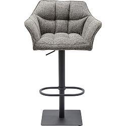 Šedá barová s područkami židle Kare Design Thinktank