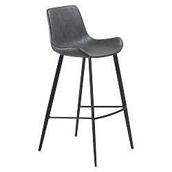 Šedá barová židle DAN–FORM Hype