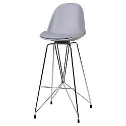 Šedá barová židle sømcasa Brett