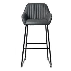 Šedá barová židle Unique Furniture Brooks