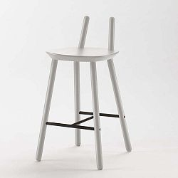 Šedá barová židle z masivu EMKO Naïve