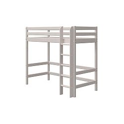 Šedá dětská postel z borovicového dřeva Flexa Classic, výška 184 cm