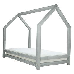 Šedá dětská postel z lakovaného smrkového dřeva Benlemi Funny, 80 x 200 cm