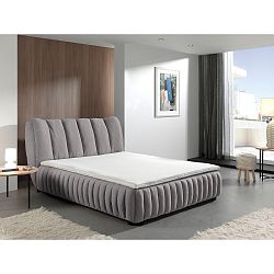 Šedá dvoulůžková postel Sinkro Michelle, 160x200cm
