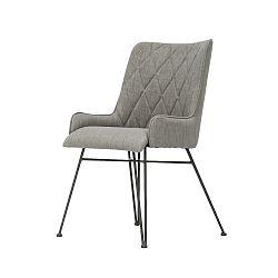 Šedá jídelní židle Livin Hill Adesso