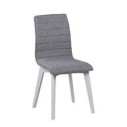 Šedá jídelní židle s bílými nohami Folke Grace