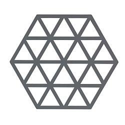 Šedá silikonová podložka pod horké nádoby Zone Triangles