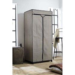 Šedá textilní šatní skříň Compactor Wardrobe, výška160cm