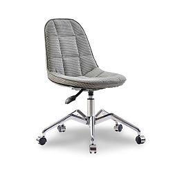 Šedá židle na kolečkách Modern Chair Grey