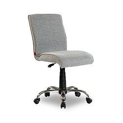 Šedá židle na kolečkách Soft Chair Grey