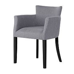 Šedá židle s černými nohami Ted Lapidus Maison Santal