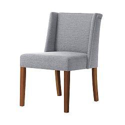 Šedá židle s tmavě hnědými nohami Ted Lapidus Maison Zeste